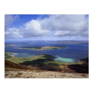 Visión superior: continente del sonido, graemsay y tarjetas postales