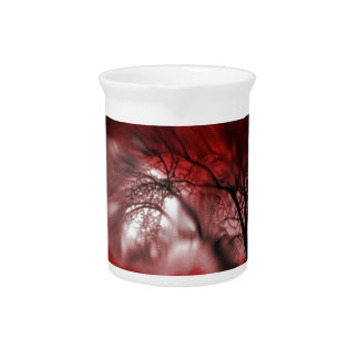 vision tree red drink pitcher