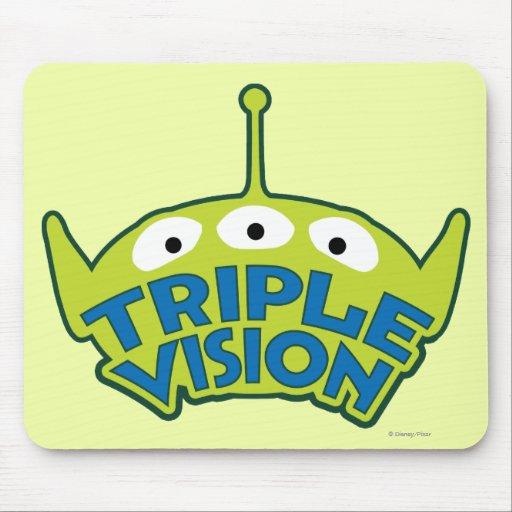 Vision triple extranjero tapetes de raton
