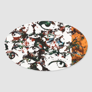 Visionary Abstract Oval Sticker