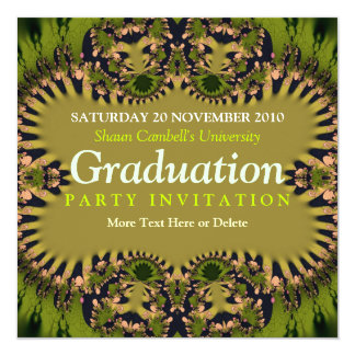Visionary Forest Earth Green Graduation Invitation