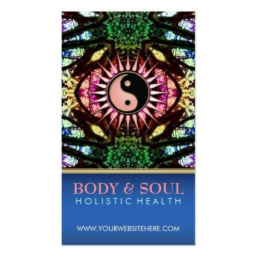 Spiritual healing business card templates page2 bizcardstudio visionary forest yinyang newage business cards colourmoves