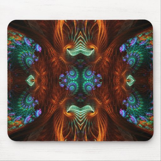 Visionary Fractal Butterfly Mousepad