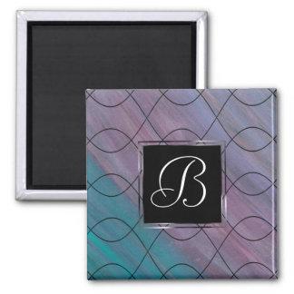 Visionary Kitchen   Monogram Purple Pink Blue   Magnet