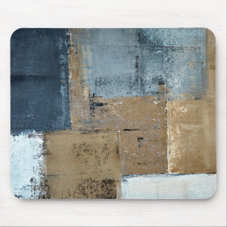 'Visionary' Neutral Abstract Art Mouse Pad