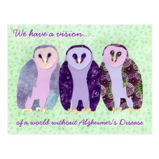 Visionary Owls Postcard