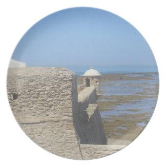 Visiónes costeras - puesto de observación de la fo plato para fiesta