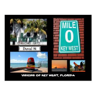Visiones de Key West, la Florida Tarjetas Postales