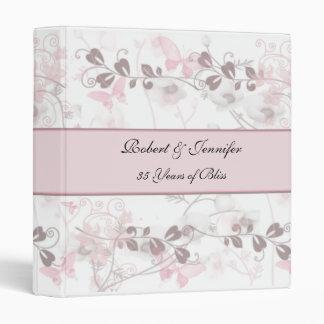 Visiones de la mariposa en aniversario rosado y de
