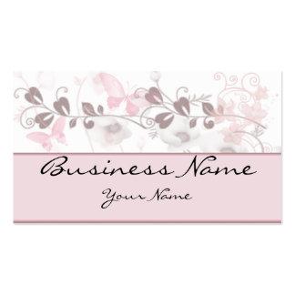 Visiones de la mariposa en tarjeta de visita rosad