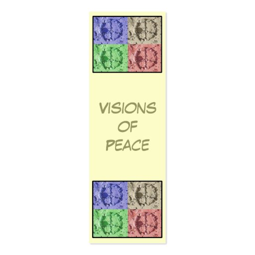 Visiones de la señal de la paz tarjetas de visita mini