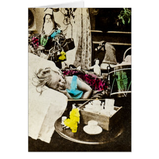 Visiones de los ciruelos del azúcar - vintage tarjeta de felicitación