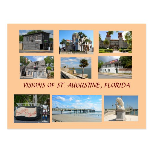Visiones de St Augustine, la Florida Tarjeta Postal