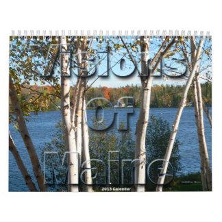 Visiones del calendario de Maine 2013