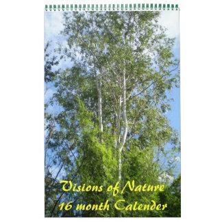Visiones del calendario del mes Nature16
