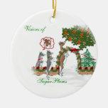 Visiones del navidad de la cabra de los SugarPlums Ornamentos De Reyes Magos