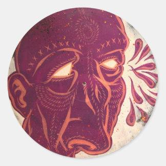 Visiones del Swami Pegatina Redonda