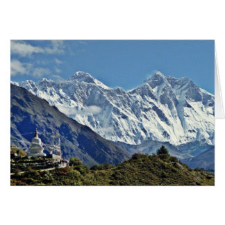 Visiónes desde Nepal en manera al MONTE EVEREST Tarjeta De Felicitación