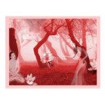 Visiones en el rojo - autorretrato postales