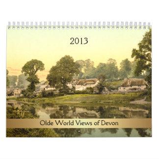 Visiones mundiales 2013 de Olde de Devon Calendario De Pared