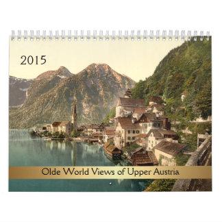 Visiones mundiales 2015 de Olde de Austria Calendario De Pared