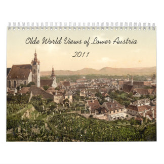 Visiones mundiales de Olde de una Austria más baja Calendarios