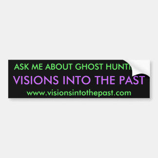 VISIONS INTO THE PAST BUMPER STICKER