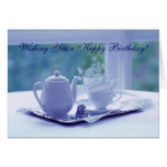 Visions of Blue Birthday Card