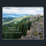 "Visions of Oregon Calendar 2018<br><div class=""desc"">A 12 month calendar featuring some of the iconic scenery and plant life that the state of Oregon has to offer. From the western Cascade Mountains to the Painted Hills in the east,  Oregon&#39;s beauty radiates from season to season.</div>"
