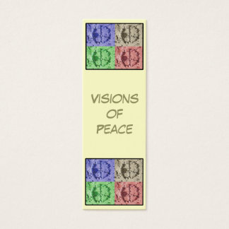 Visions of Peace Bookmark Mini Business Card