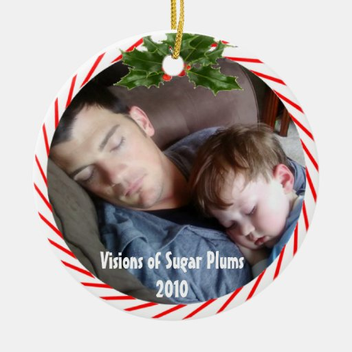 Visions of Sugar Plums 2010 Double-Sided Ceramic Round Christmas Ornament