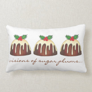 Visions of Sugar Plums Plum Pudding Holiday Pillow