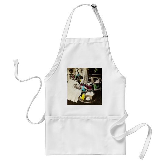 Visions of Sugar Plums - Vintage Stereoview Adult Apron