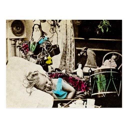 Visions of Sugar Plums - Vintage Stereoview Postcard