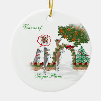 Visions of SugarPlums Goat Christmas Ornament