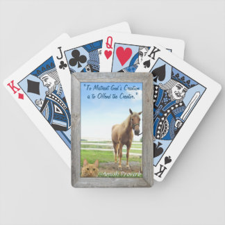 Visit Amish Country! Horse Farms! Curious Cat! Bicycle Playing Cards