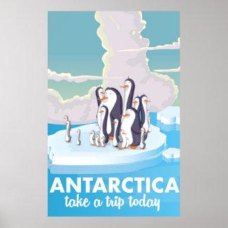Visit Antarctica  Vintage travel poster