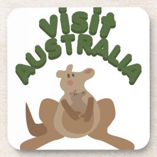 Visit Australia Drink Coaster