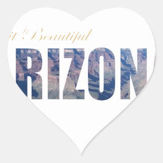 Visit Beautiful Arizona Heart Sticker