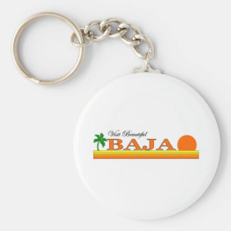 Visit Beautiful Baja Keychain