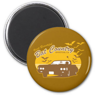 Visit beautiful bat country, barstow, ca 2 inch round magnet