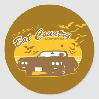 Visit beautiful bat country, barstow, ca classic round sticker