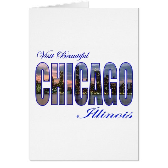 Visit Beautiful Chicago, Illinois Card
