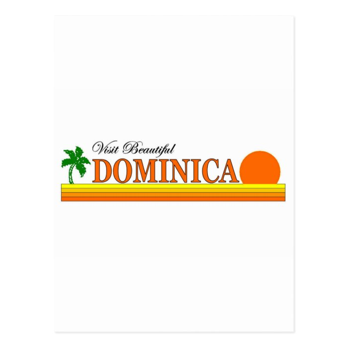 Visit Beautiful Dominica Postcard