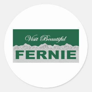 Visit Beautiful Fernie Classic Round Sticker