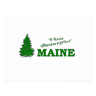 Visit Beautiful Maine Postcard