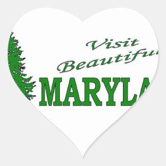 Visit Beautiful Maryland Heart Sticker