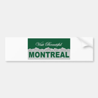 Visit Beautiful Montreal Bumper Stickers