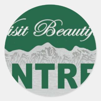 Visit Beautiful Montreal Classic Round Sticker