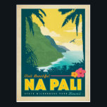 "Visit Beautiful Na Pali, Hawaii Postcard<br><div class=""desc"">Anderson Design Group is an award-winning illustration and design firm in Nashville,  Tennessee. Founder Joel Anderson directs a team of talented artists to create original poster art that looks like classic vintage advertising prints from the 1920s to the 1960s.</div>"